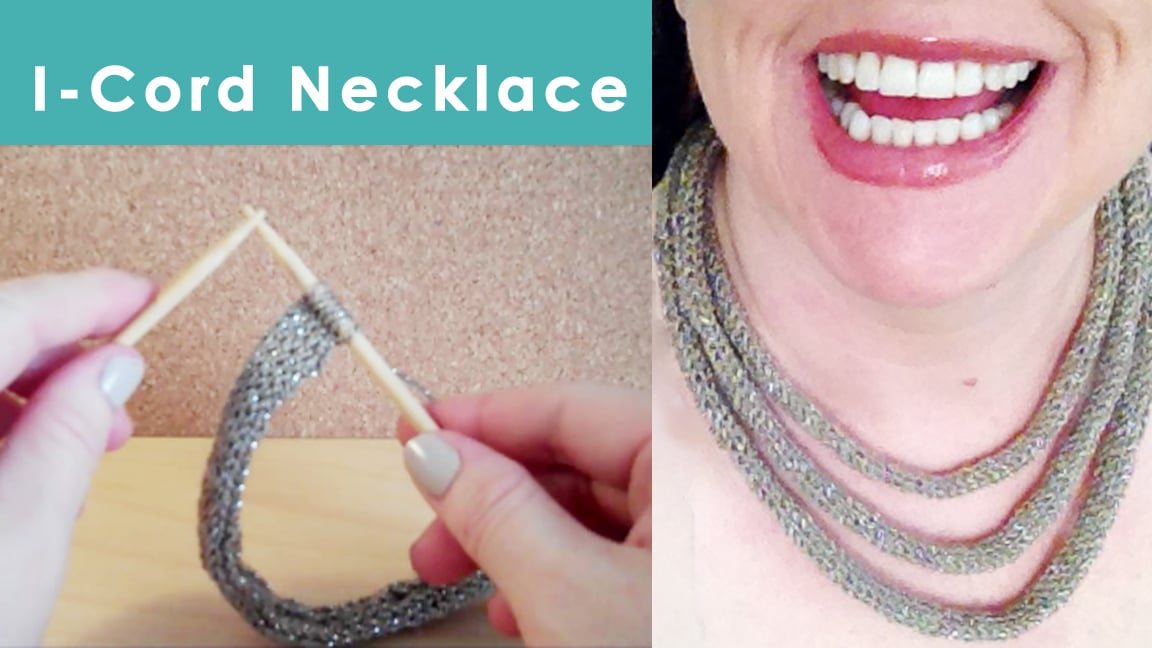 How to Knit an I-Cord Necklace by Studio Knit
