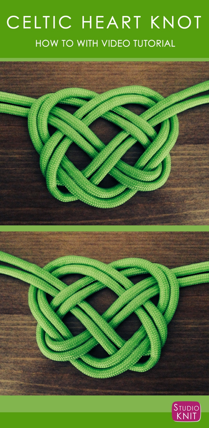 How to Make a Celtic Heart Knot Studio Knit