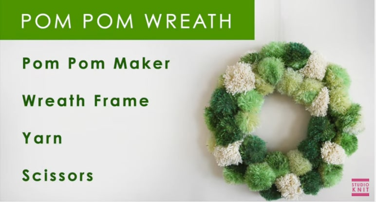 How to Make a Pom Pom Wreath with Studio Knit