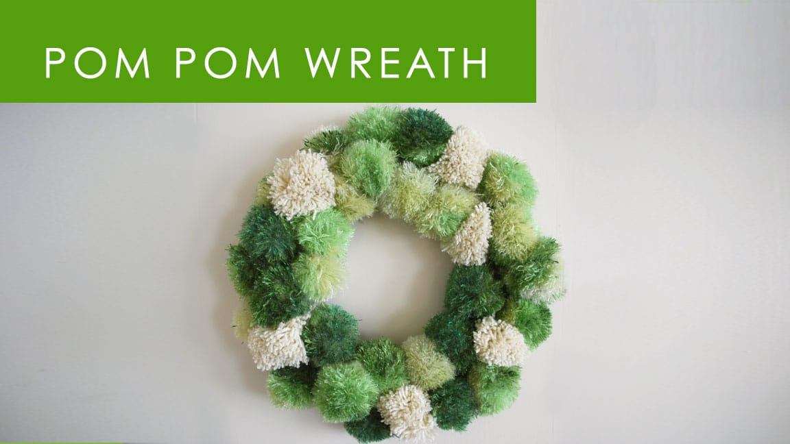 How to Make a Pom Pom Wreath