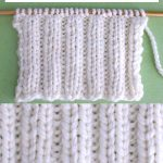 2X2 Rib Knit Stitch Pattern and Video Tutorial by Studio Knit