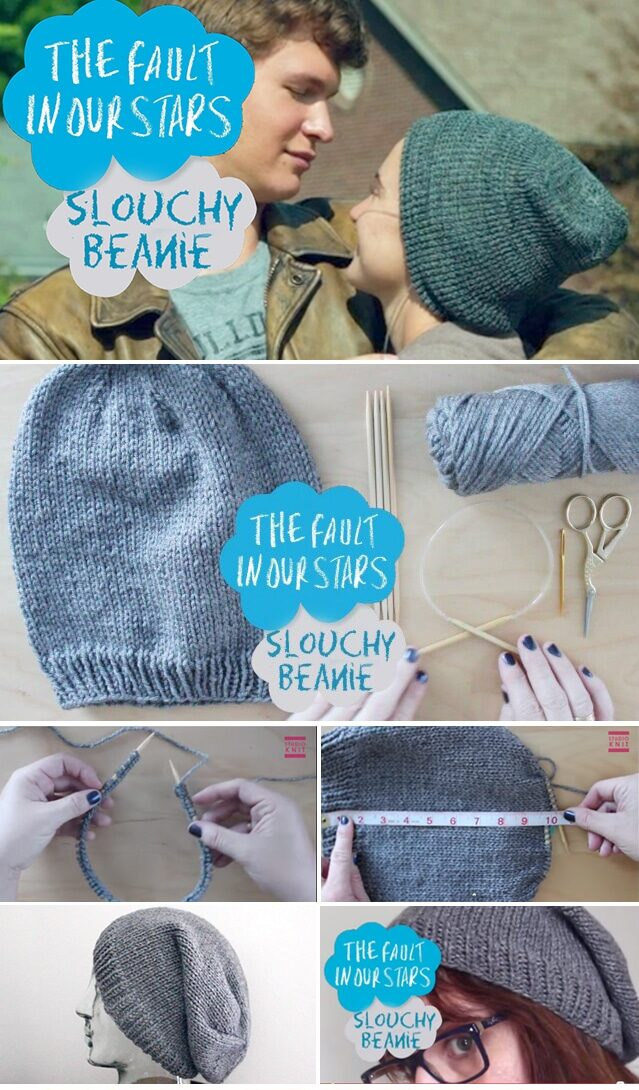How to Knit 'The Fault in Our Stars' Slouchy Beanie