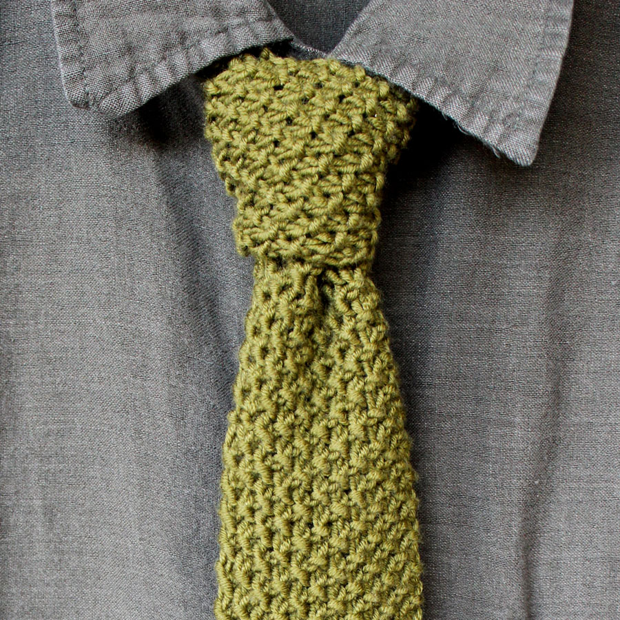 How to Knit a Seed Stitch Necktie Pattern with Video Tutorial ...