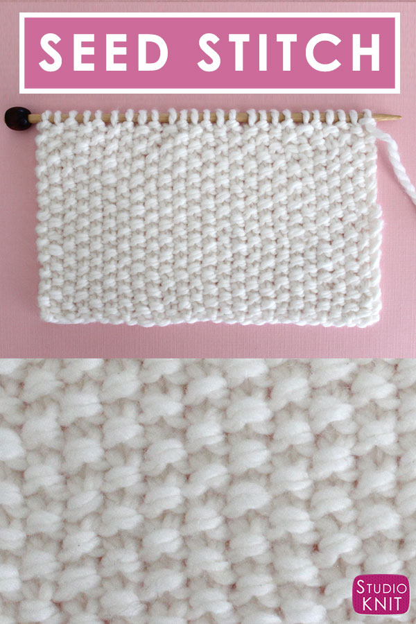 How To Knit The Seed Stitch Pattern With Video Tutorial Studio Knit