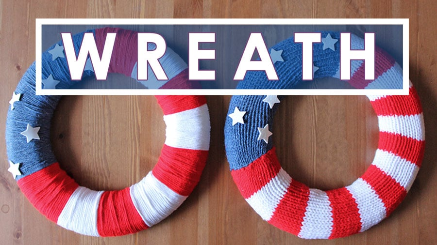 Knit A Patriotic Flag Wreath With Video Tutorial Studio Knit