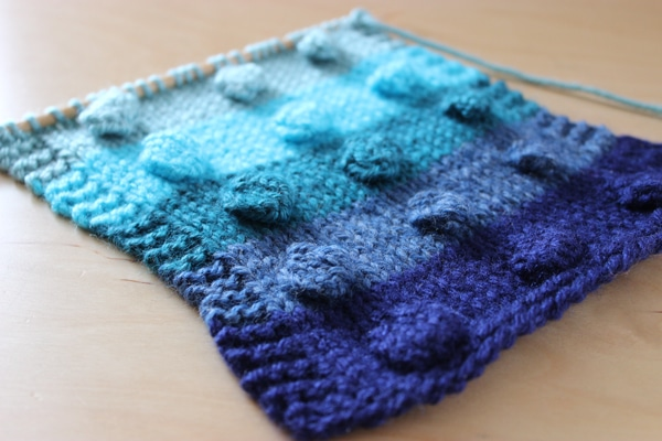 How To Knit The Bobble Stitch Pattern With Video Tutorial Studio Knit