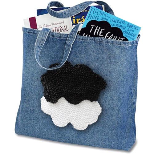 Bag Purse - Cloud Shape - TFIOS Knitting Pattern by Studio Knit