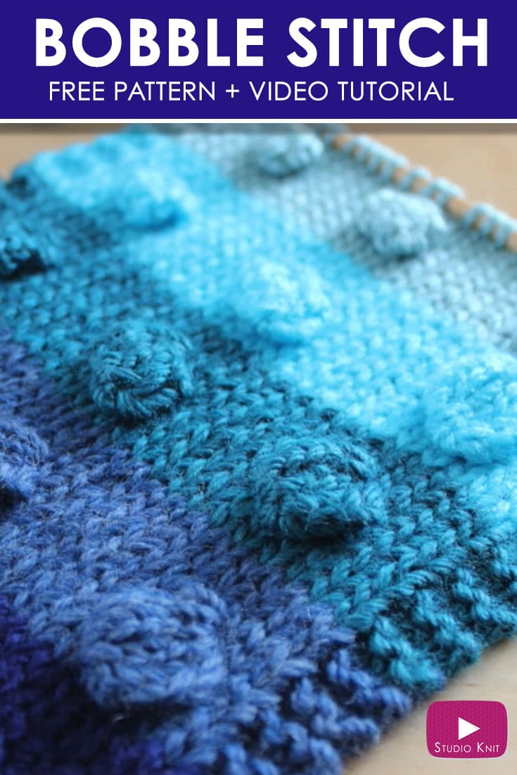 How to Knit the BOBBLE Stitch Pattern with Free Knitting Pattern + Video Tutorial by Studio Knit