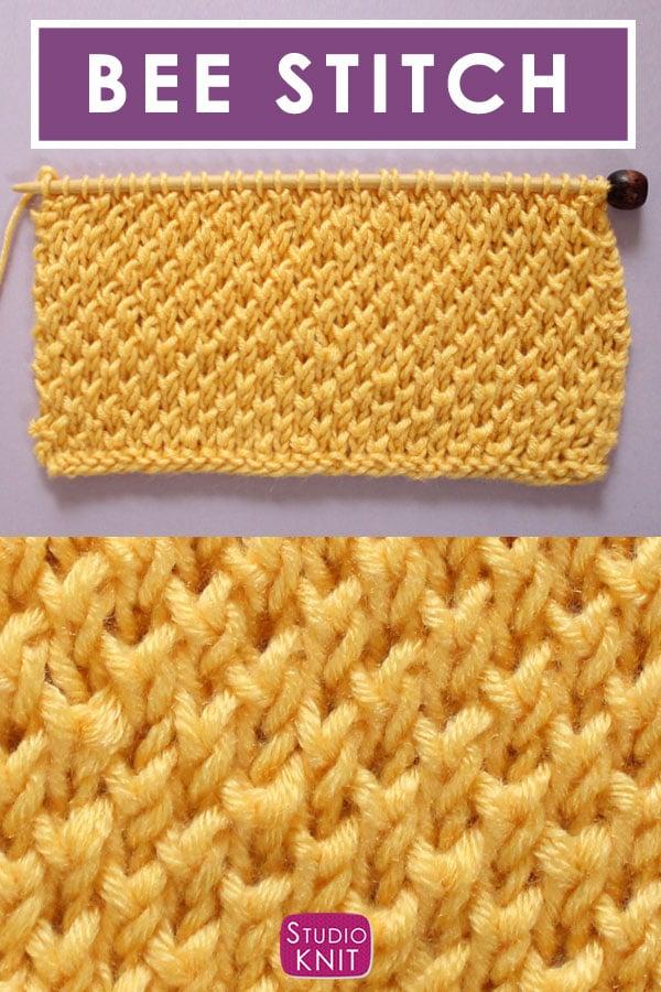 Bee Stitch Knitting Pattern