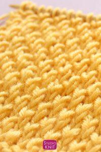 Bee Stitch Knitting Pattern by Studio Knit