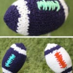 How to Knit a Football for the Super Bowl with Free Knitting Pattern + Video Tutorial by Studio Knit