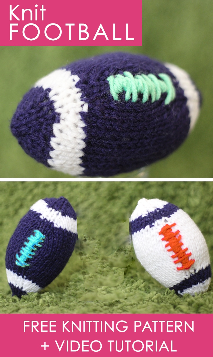 How To Knit Football Super Bowl Diy Studio Knit