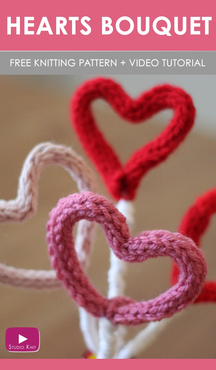 Knit Heart Pattern | Puffy Heart Softies with Video Tutorial ...