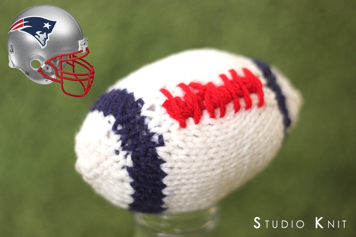 Knit a Football Patriots Studio Knit