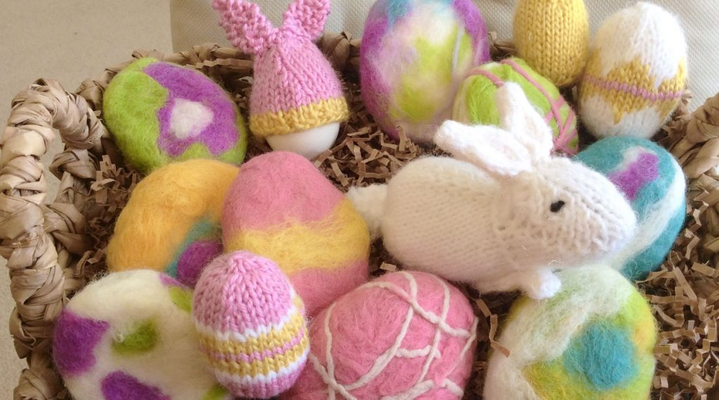 Easter Bunny Egg Cozies by Studio Knit