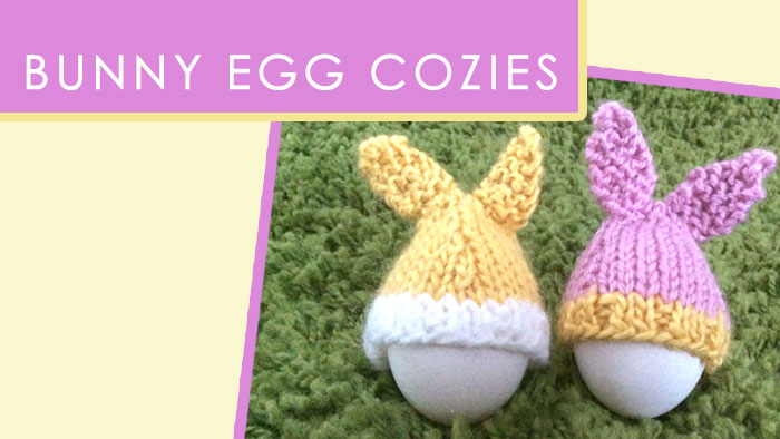 Easter Bunny Egg Cozies (Knitting Pattern)