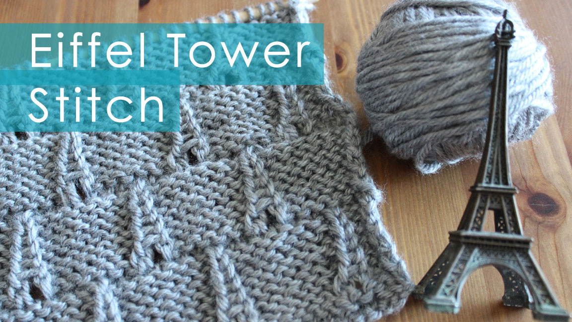 How To Knit The Eiffel Tower Eyelet Stitch Pattern With Video