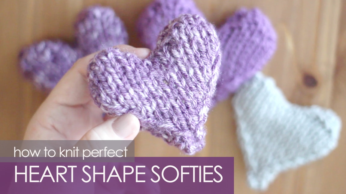 Knit a Heart Shape | Puffy Heart Softies by Kristen McDonnell of Studio Knit