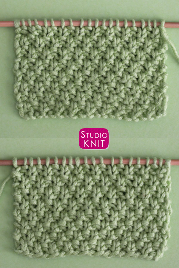 Irish Moss Knit Stitch Pattern is Reversible with both sides identical.