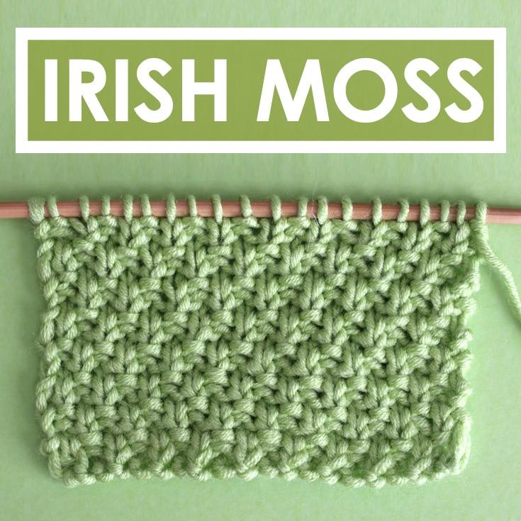 Irish Moss Knit Stitch Pattern with Video Tutorial by Studio Knit