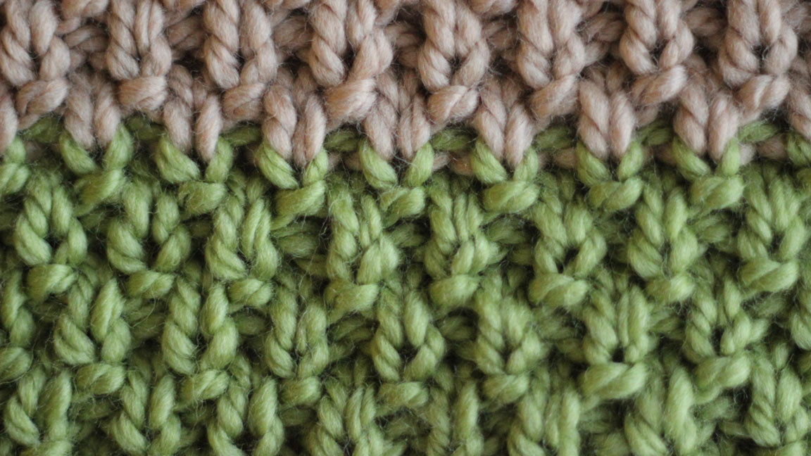 Irish Moss Stitch, Knit Stitch by Studio Knit