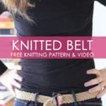 How to Knit a BELT - Easy For Beginning Knitters with Studio Knit