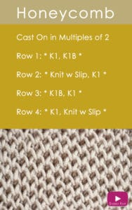 How to Knit the Honeycomb Brioche Stitch Pattern with Studio Knit