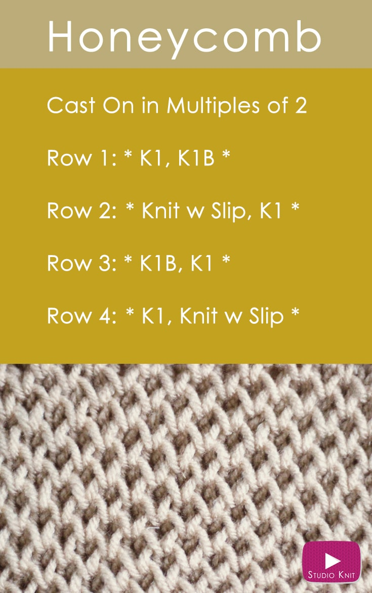 How To Knit The Honeycomb Brioche Stitch Pattern With