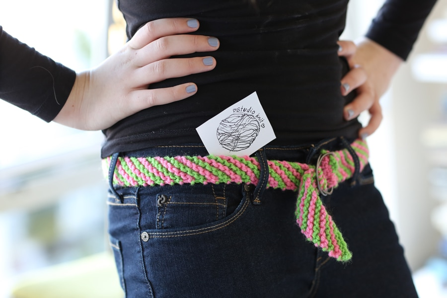 How to Knit a BELT - Free Knitting Pattern + Video with Studio Knit