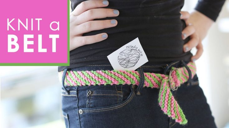 How to Knit a BELT Pattern with Video Tutorial