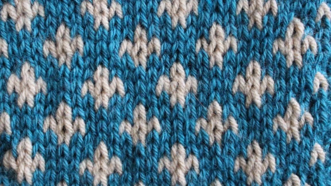 How to Knit the FLEUR DE LYS Pattern with Studio Knit