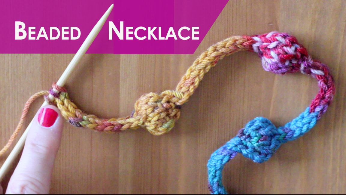 How To Knit A Beaded Necklace Pattern With Video Tutorial