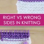 Right & Wrong Side (RS vs WS): Knitting Lessons for Beginners with Studio Knit | Watch Free Knitting Video Tutorial
