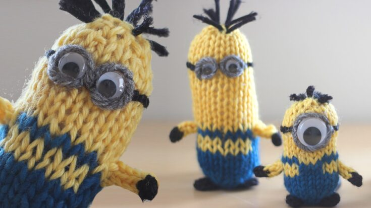 How to Knit a MINION Pattern with Video Tutorial