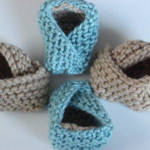 Baby Booties Knitting Printable Pattern