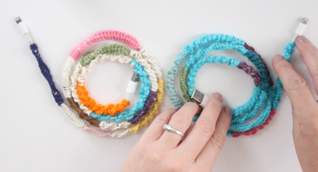 Make Cute Cords with Knotted Wrapped Yarn | Back to School DIY
