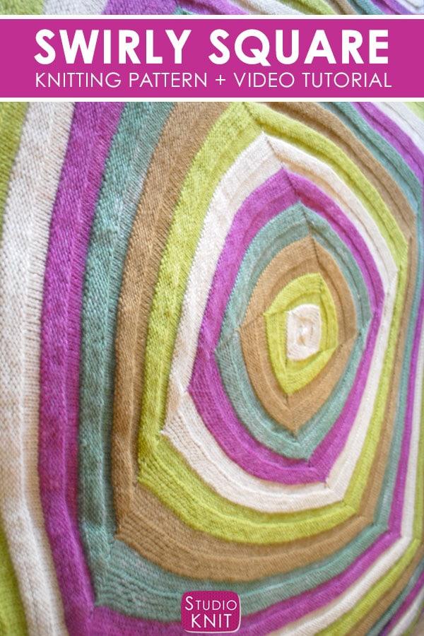 Swirly Square Knit Stitch Pattern