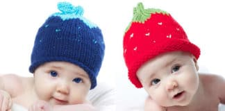 How to Knit a Strawberry Berry Baby Hat with Free Knitting Pattern + Video Tutorials by Studio Knit