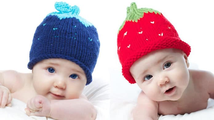 0519ce5035c How to Knit a Strawberry Berry Baby Hat with Free Knitting Pattern + Video  Tutorials by