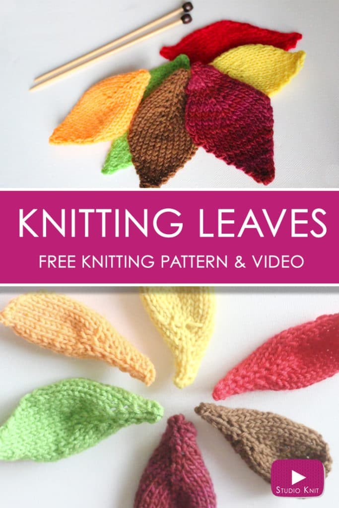 How to Knit a LEAF with Studio Knit