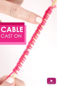 How to Knit the Cable Cast On Knitting Technique with Free Video Tutorial by Studio Knit