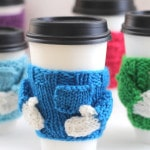 Knitted Coffee Cozy Sweaters: Free Pattern by Studio Knit