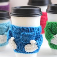 Coffee Cozy Sweater Knitting Pattern with Video Tutorial