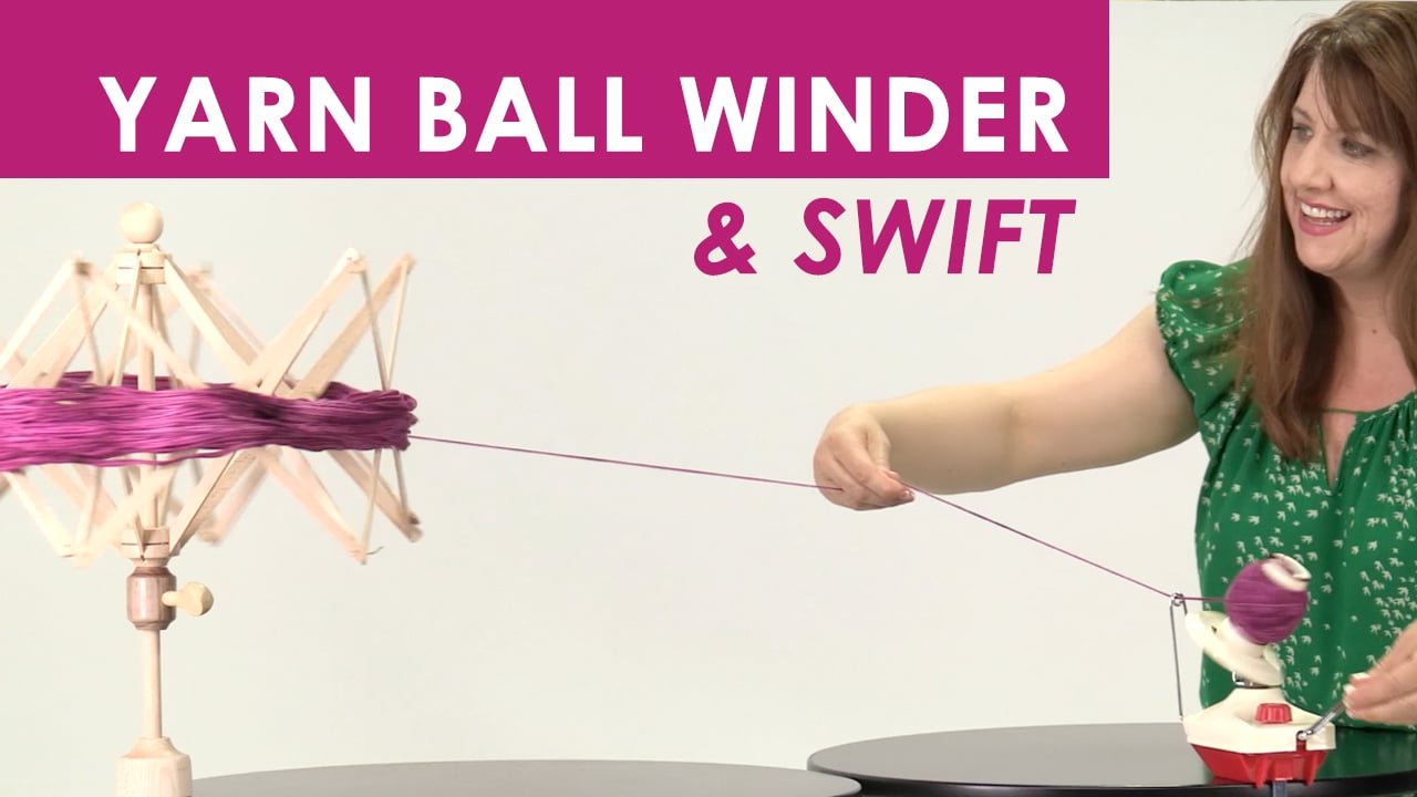 How to Ball Yarn with a Winder & Swift