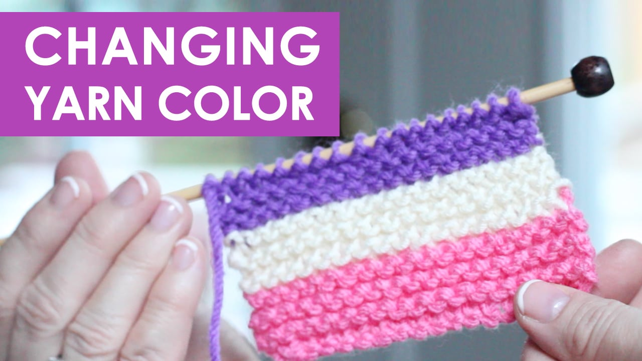How to Change Yarn in Knitting Projects