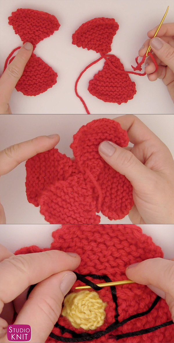 How To Knit A Poppy Flower Pattern With Video Tutorial Studio Knit