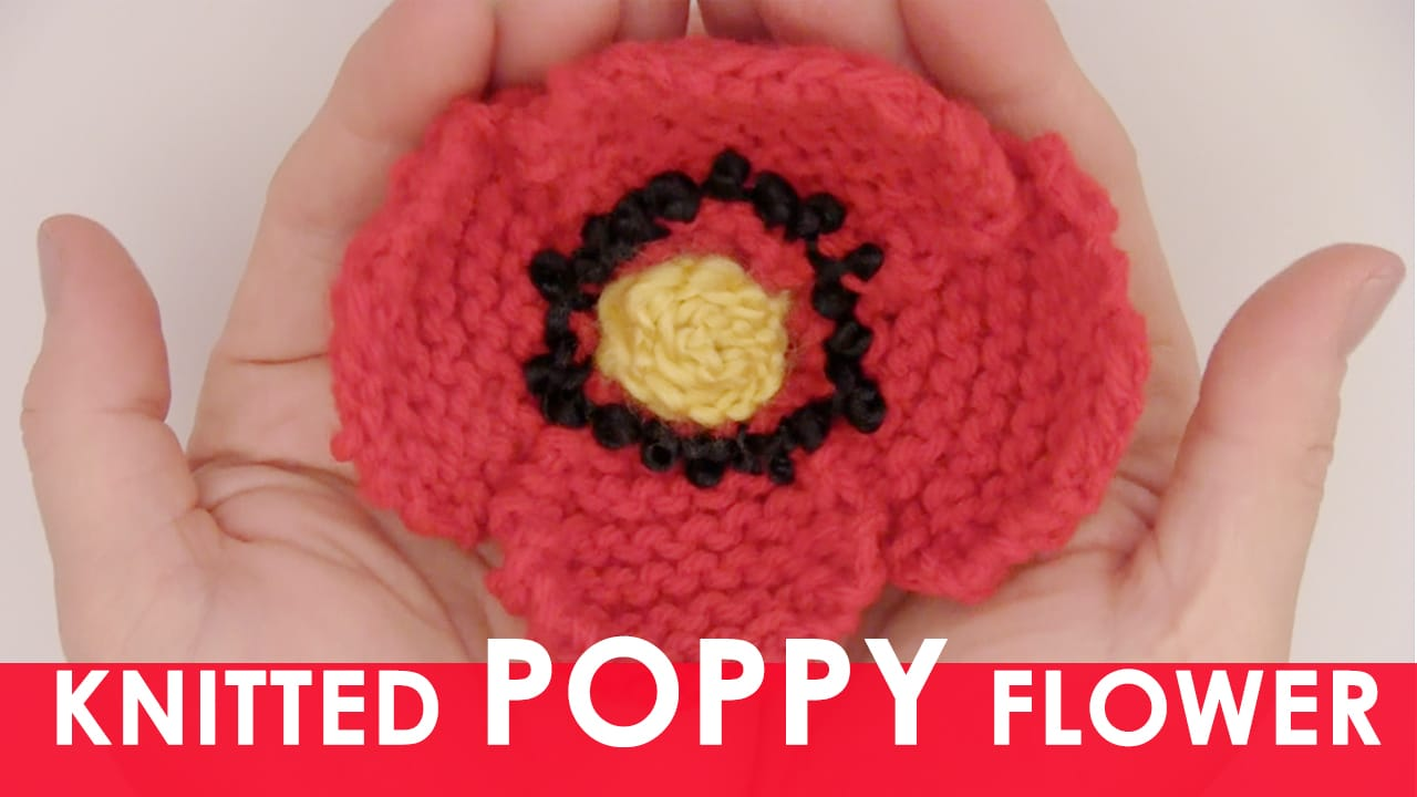 Knitting Pattern For Poppy Flowers : How to Knit a Poppy Flower! Studio Knit