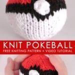 How to Knit a POKÉBALL | Pokémon Go DIY with Studio Knit