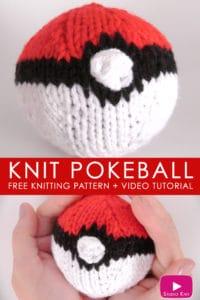 How to Knit a POKÉBALL | Pokémon Go DIY with Studio Knit