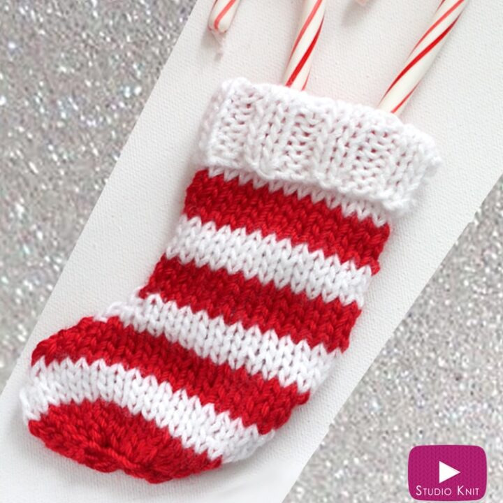 Mini Christmas Stocking Knitting Pattern